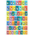 science banner set science alphabet vector image vector image