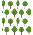 seamless texture of cartoon trees background for vector image