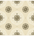 seamless vintage compass rose pattern vector image