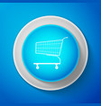 shopping cart icon isolated on blue background vector image