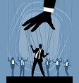 silhouettes of business puppets vector image