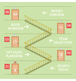 Startup Stairs vector image vector image