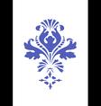 stylized floral design element blue flower vector image vector image