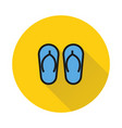 summer sandal icon on round background vector image