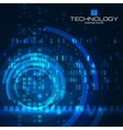 Technology background with HUD elements vector image vector image