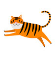 tiger cartoon icon vector image