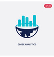 two color globe analytics icon from business vector image vector image