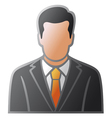 user icon man in business suit vector image vector image
