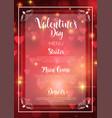 valentines day menu design vector image vector image