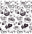 vintage wedding sketch seamless pattern vector image vector image