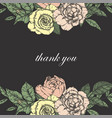 wedding card suite with vintage flower templates vector image vector image