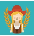 woman germany culture avatar vector image