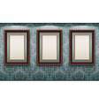 wooden frames on the wall vector image