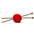 Wool ball and knitting needles vector | Price: 1 Credit (USD $1)