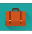 Flat Icon of Briefcase vector image
