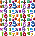 Seamless numbers vector image