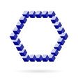 Hexagonal Frame Of Isometric Cubes Over vector image