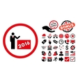 2016 Show Flat Icon with Bonus vector image vector image
