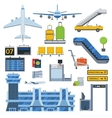 Airport symbols set vector image