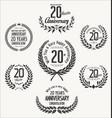 anniversary laurel wreath 20 years vector image vector image