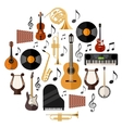 Assorted Musical Instruments vector image vector image