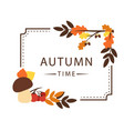 autumn time maple leaf square frame background vec vector image vector image