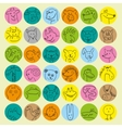 Avatars of hand drawn funny doodle animals vector image vector image