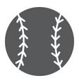 baseball ball glyph icon game and sport ball vector image vector image