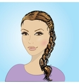 beautiful female face vector image vector image