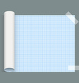 Big sheet of squared paper Whatman fixed an tape vector image