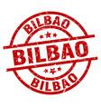 Bilbao red round grunge stamp