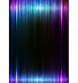 Blue vertical shining lights lines abstract vector image vector image