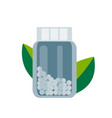 bottle with gomeophatic granulas homeopathic vector image