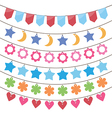 bunting and party flags vector image vector image