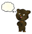 cartoon cute teddy bear with thought bubble vector image vector image