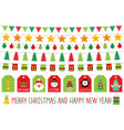 christmas banners and gift tags isolated graphic vector image vector image