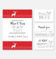 christmas wedding invitation card vector image vector image