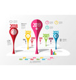 colorful timeline laout infographic template with vector image vector image