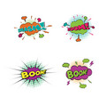 comic text pop art style vector image