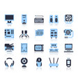 computer simple flat color icons set vector image