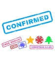 Confirmed Rubber Stamp vector image vector image