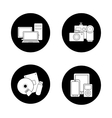 Consumer electronics black icons set vector image vector image