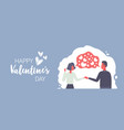 couple in love holding hands heart shapes chat vector image vector image