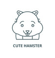cute hamster line icon cute hamster vector image vector image
