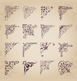 decorative calligraphic corners for design vector image vector image