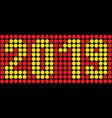 digital number 2019 vector image