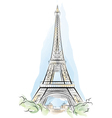 eiffel tower france vector image