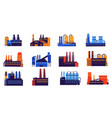 factory building cartoon plants chemical vector image