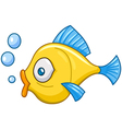 fish with bubbles vector image vector image