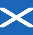 flag scotland saint andrews cross vector image